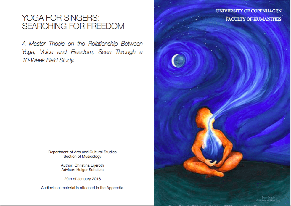 master thesis yoga for singers
